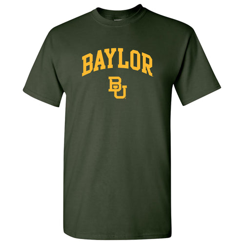 Baylor University Bears Arch Logo Short Sleeve T Shirt - Forest