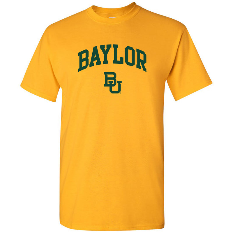 Baylor University Bears Arch Logo Short Sleeve T Shirt - Gold