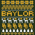 Baylor Ugly Holiday Sweater T Shirt - Forest