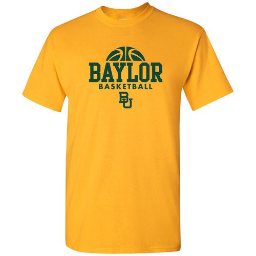 Baylor University Bears Basketball Hype Short Sleeve T Shirt - Gold
