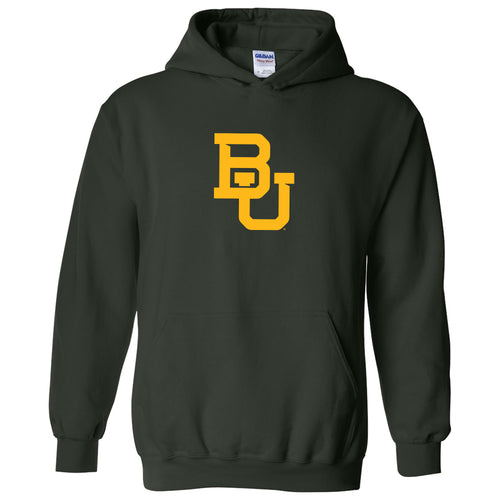 Baylor University Bears Interlocking BU Logo Hoodie - Forest