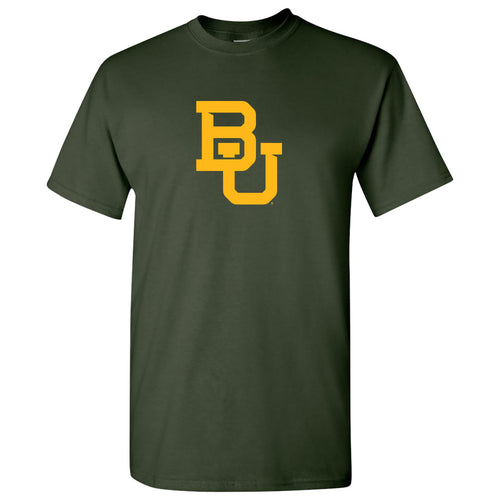 Baylor University Bears Interlocking BU Logo T Shirt - Forest