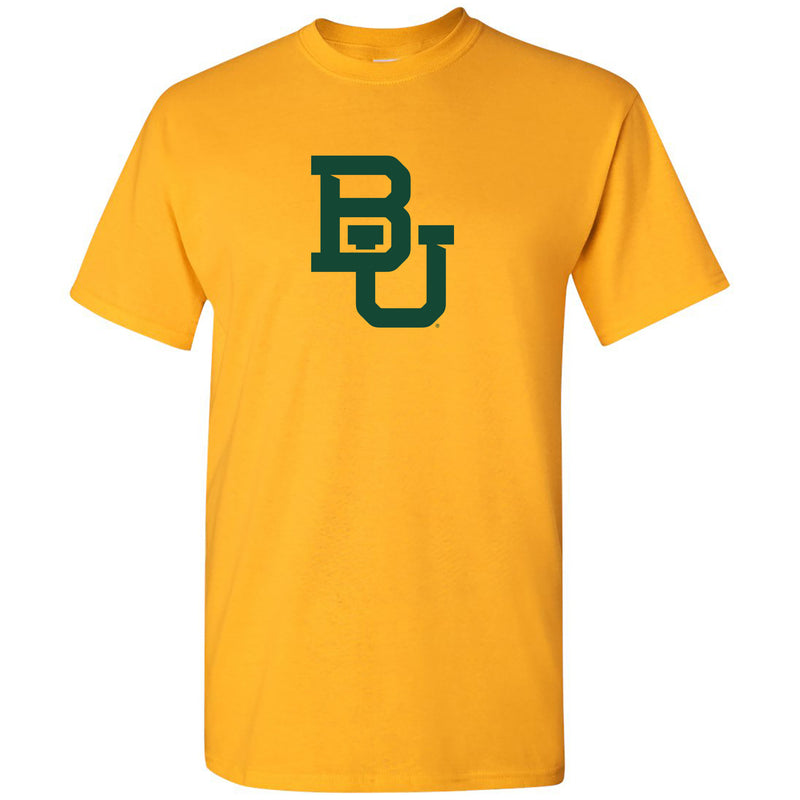Baylor University Bears Interlocking BU Logo T Shirt - Gold