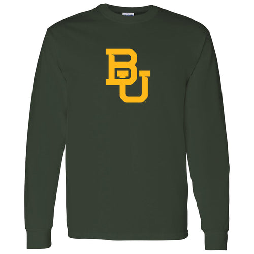Baylor University Bears Interlocking BU Logo Long Sleeve - Forest