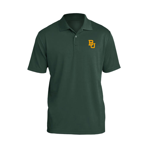 Baylor University Bears Interlocking BU Logo Polo - Forest