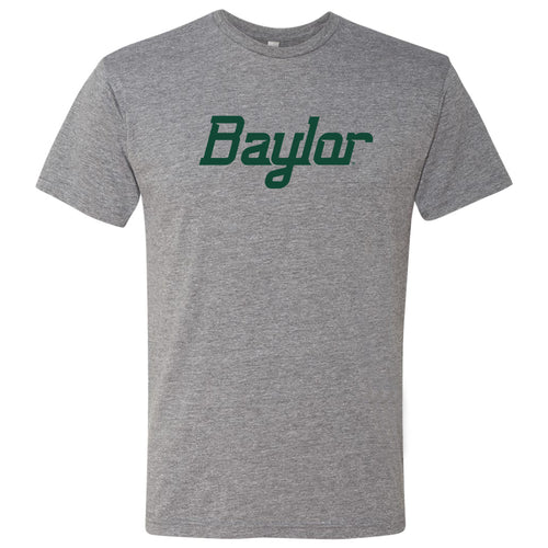 Baylor University Bears Script Wordmark Next Level Short Sleeve T Shirt - Premium Heather
