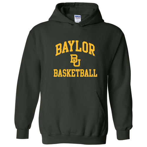 Baylor University Bears Arch Logo Basketball Heavy Blend Hoodie - Forest