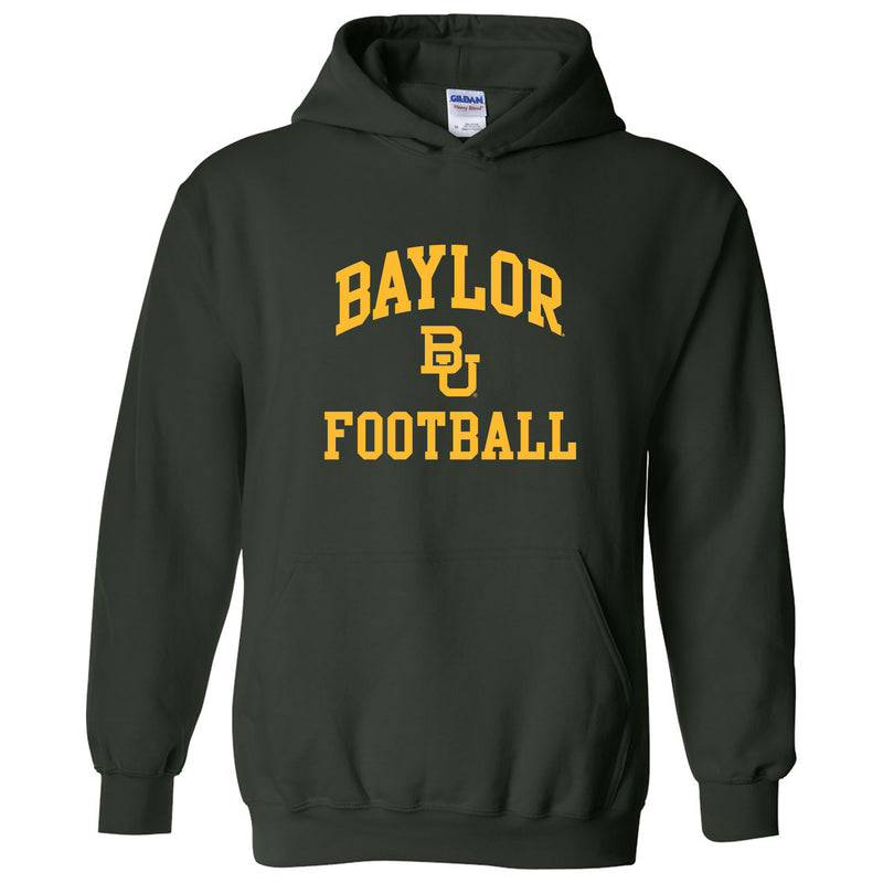 Baylor University Bears Arch Logo Football Heavy Blend Hoodie - Forest