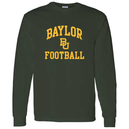 Baylor University Bears Arch Logo Football Long Sleeve T-Shirt - Forest