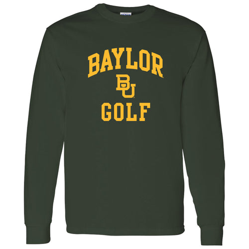 Baylor University Bears Arch Logo Golf Long Sleeve T-Shirt - Forest