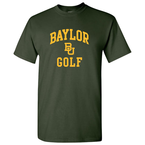 Baylor University Bears Arch Logo Golf Short Sleeve T Shirt - Forest