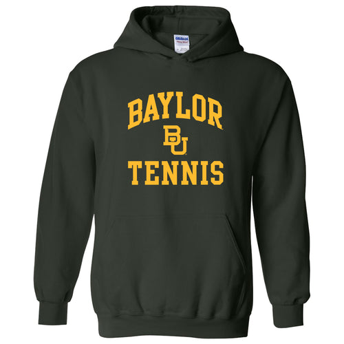 Baylor University Bears Arch Logo Tennis Heavy Blend Hoodie - Forest