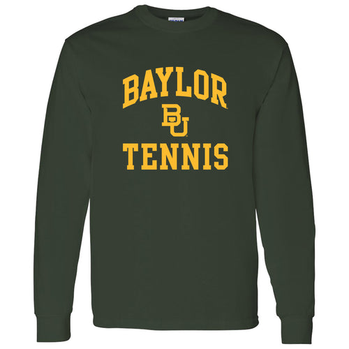 Baylor University Bears Arch Logo Tennis Long Sleeve T-Shirts - Forest