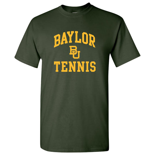 Baylor University Bears Arch Logo Tennis Shirt Sleeve T Shirt - Forest