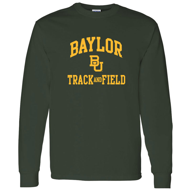 Baylor University Bears Arch Logo Track & Field Long Sleeve T-Shirt - Forest