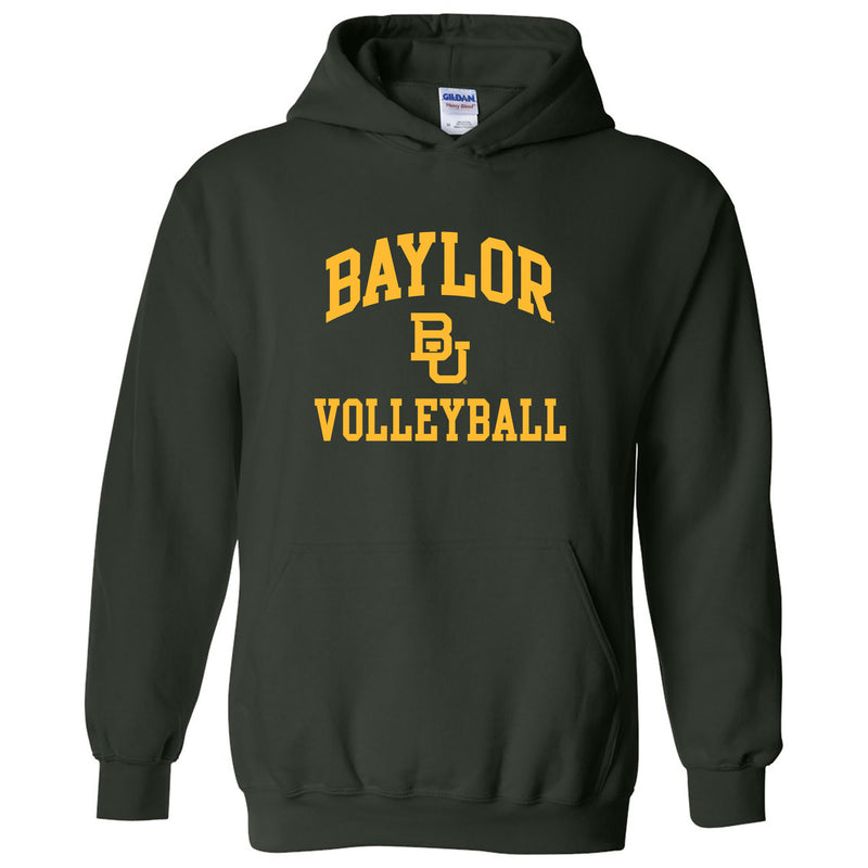 Baylor University Bears Arch Logo Volleyball Heavy Blend Hoodie - Forest
