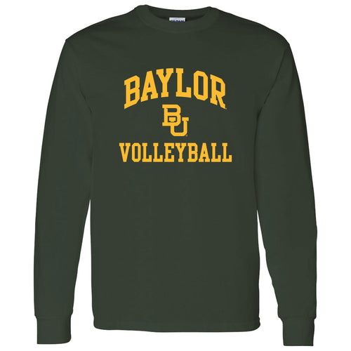 Baylor University Bears Arch Logo Volleyball Long Sleeve T-Shirt - Forest