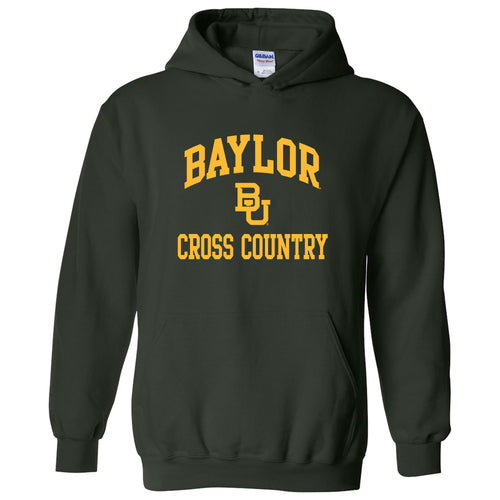 Baylor University Bears Arch Logo Cross Country Heavy Blend Hoodie - Forest
