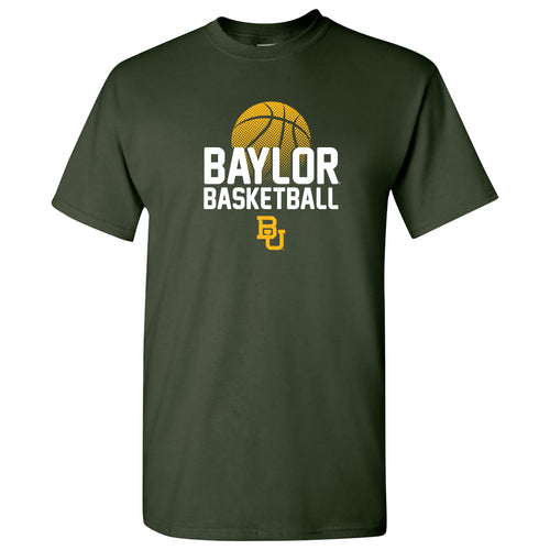 Baylor University Bears Basketball Flux Basic Cotton Short Sleeve T Shirt - Forest