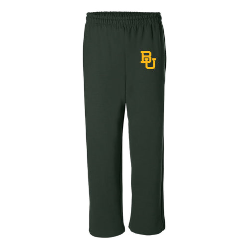Baylor University Bears Interlocking BU Logo Sweatpants - Forest