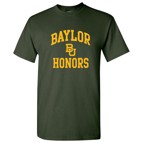 Baylor University Bears Arch Logo Honors Basic Cotton Short Sleeve T Shirt - Forest