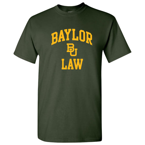 Baylor Bears Arch Logo Law Basic Cotton Short Sleeve T Shirt - Forest