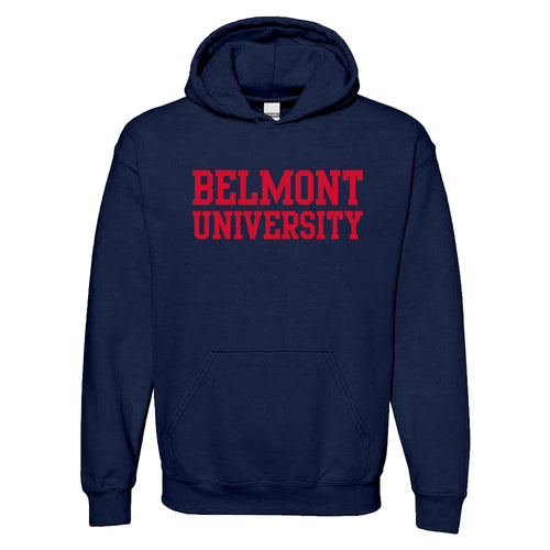 Belmont University Bruins Basic Block Heavy Blend Hoodie - Navy