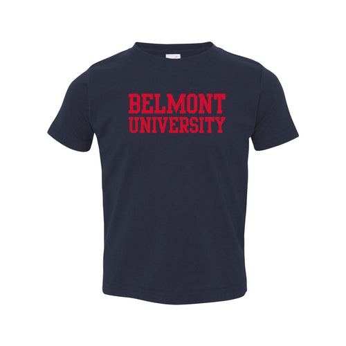 Belmont University Bruins Basic Block Rabbit Skins Toddler T Shirt - Navy