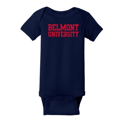 Belmont University Bruins Basic Block Rabbit Skins Infant Creeper - Navy