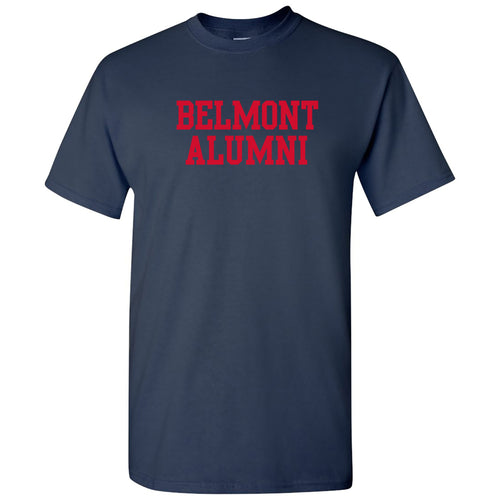 Belmont University Bruins Basic Block Alumni Cotton Short Sleeve T Shirt - Navy
