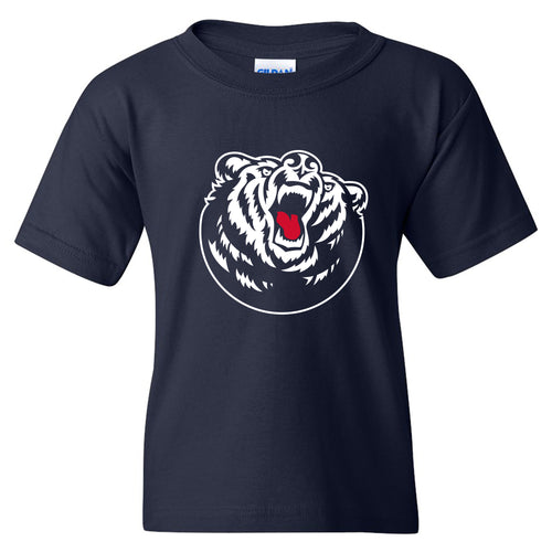 Belmont University Bruins Primary Logo Youth Basic Cotton Short Sleeve T Shirt - Navy