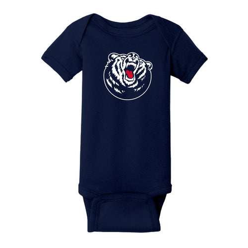 Belmont University Bruins Primary Logo Rabbit Skins Infant Creeper - Navy