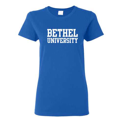 Bethel University Pilots Basic Block Womens Short Sleeve T Shirt - Royal