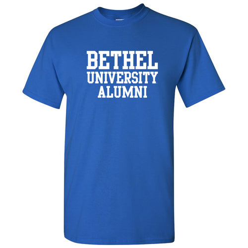 Bethel University Pilots Basic Block Alumni Short Sleeve T Shirt - Royal