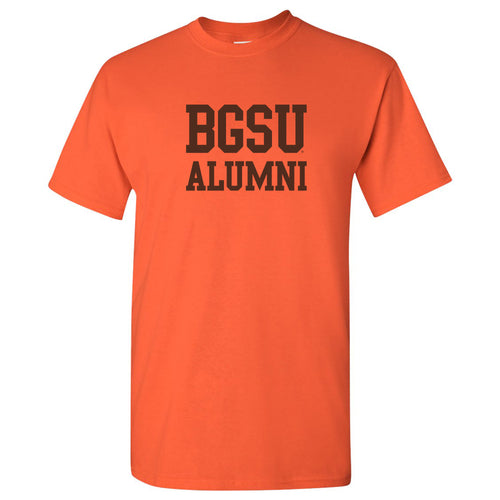 Bowling Green State University Falcons Alumni Basic Block Short Sleeve T Shirt - Orange