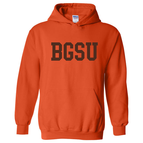Bowling Green State University Falcons Basic Block Heavy Blend Hoodie - Orange