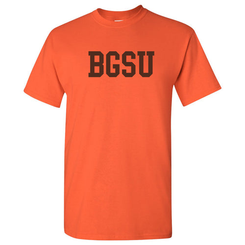 Bowling Green State University Falcons Basic Block Cotton Short Sleeve T Shirt - Orange