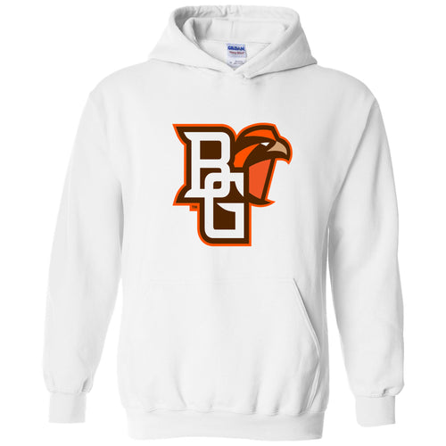 Bowling Green State University Falcons Primary Logo Heavy Blend Hoodie - White
