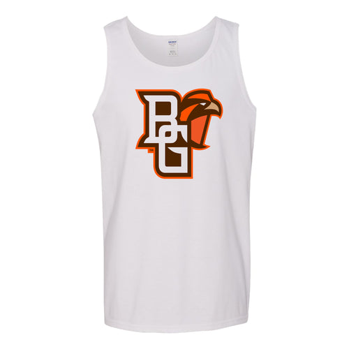 Bowling Green State University Falcons Primary Logo Cotton Tank Top - White