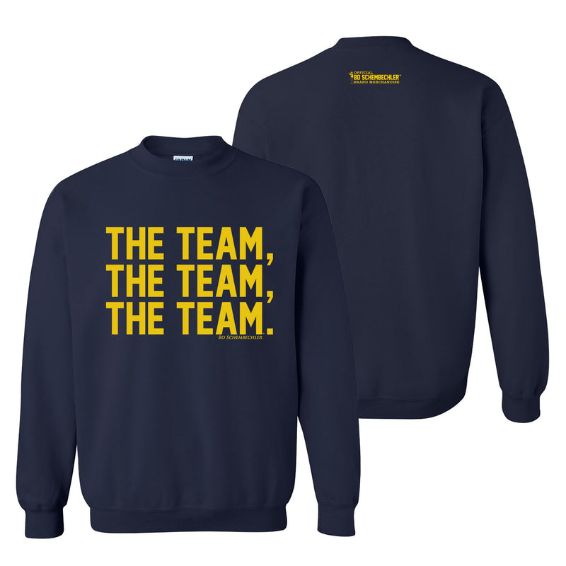 Bo Schembechler The Team The Team The Team Crew - Navy
