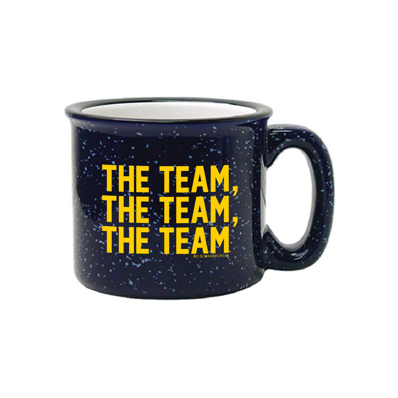 Bo Schembechler The Team The Team The Team University of Michigan 15 oz Campfire Ceramic Mug - Cobalt