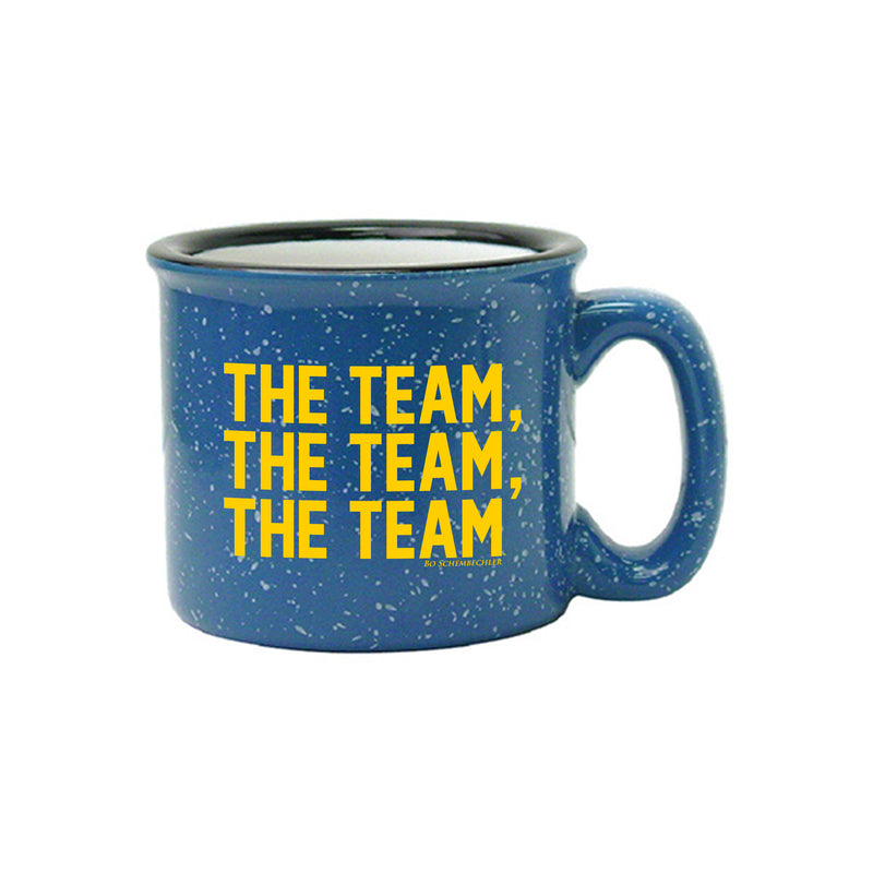 Bo Schembechler The Team The Team The Team University of Michigan 15 oz Campfire Ceramic Mug - Ocean Blue