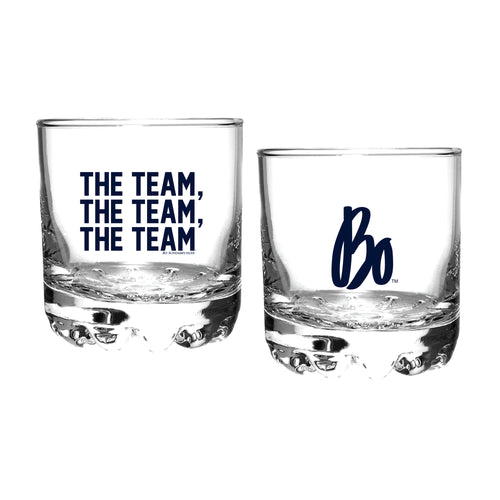 Bo Schembechler Signature The Team The Team The Team University of Michigan Rocks Glass - Clear