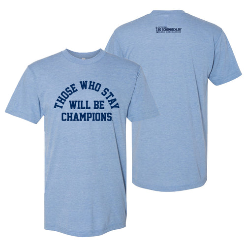 Bo Schembechler Those Who Stay Arch American Apparel T-Shirt - Athletic Blue