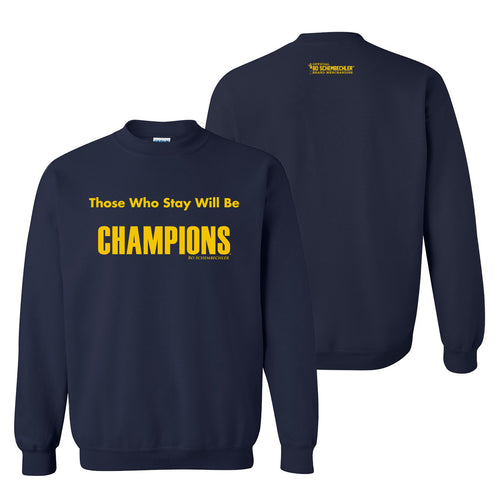 Bo Schembechler Those Who Stay Crew - Navy