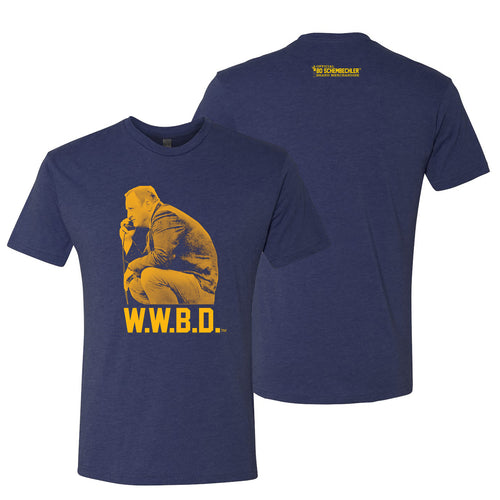 Bo Schembechler What Would Bo Do Next Level T-Shirt - Vintage Navy