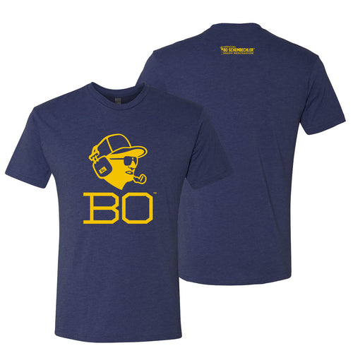 Bo Schembechler Headset Next Level T-Shirt - Vintage Navy