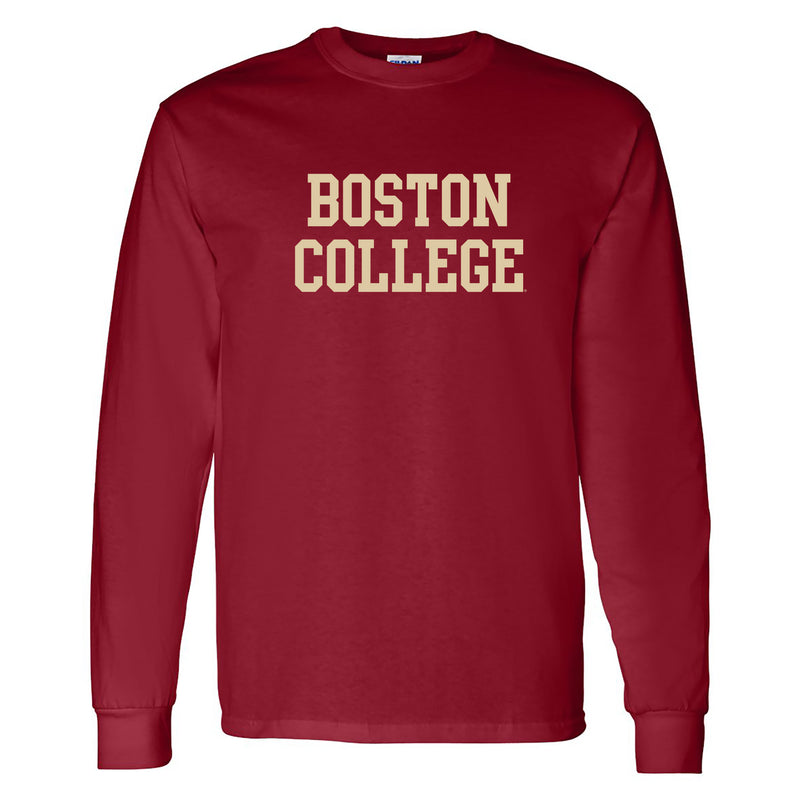 Boston College Basic Block Long Sleeve - Garnet