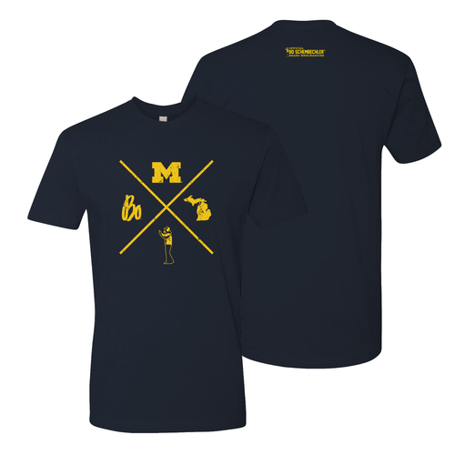 Bo X Michigan NLA Tee - Midnight Navy