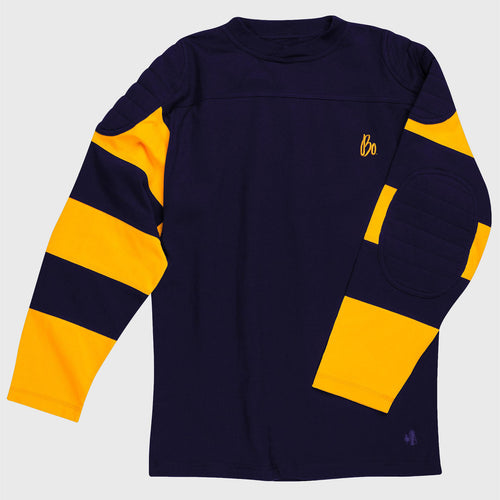 Bo Sig J Peterman Vintage Football Jersey - Navy/Yellow